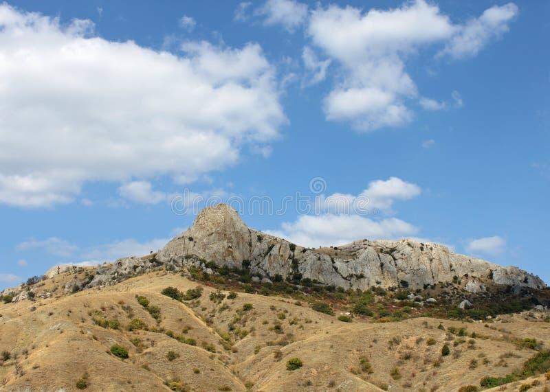 Mountain Under Blue Cloudy Sky Royalty Free Stock Photos