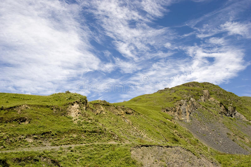 Download Mountain  under  blue sky stock image. Image of cloudscape - 16012155