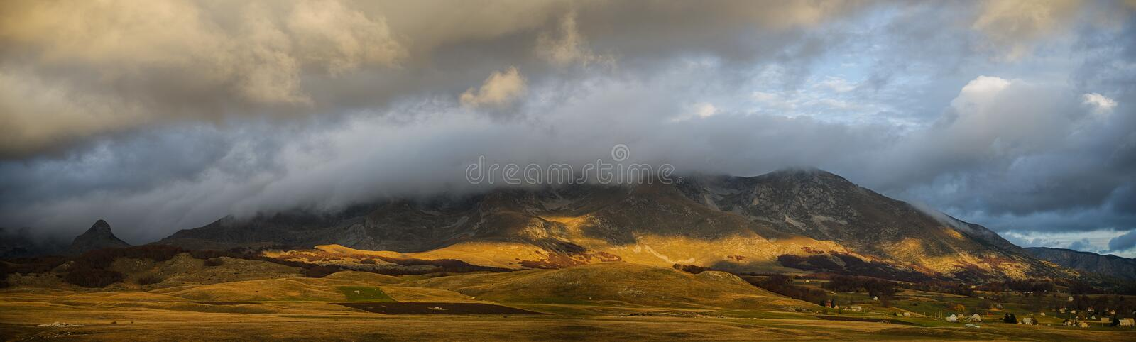 Mountain Under the Clouds stock image