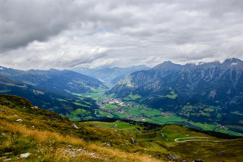 Mountain and valley royalty free stock images