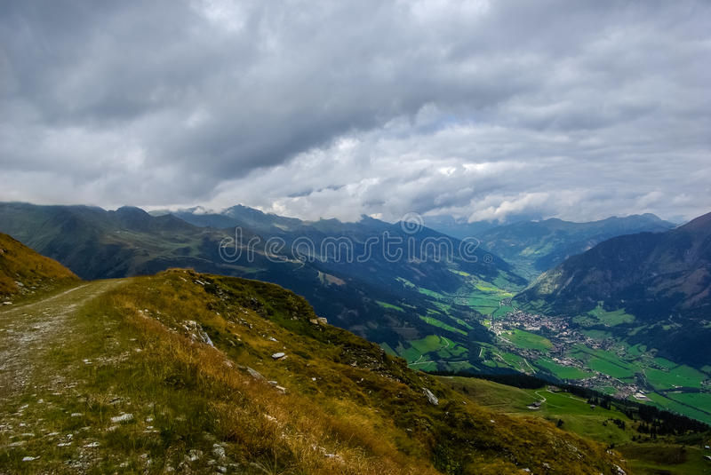 Mountain and valley stock images