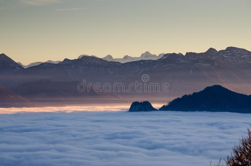Mountain Valley With Fog Free Public Domain Cc0 Image