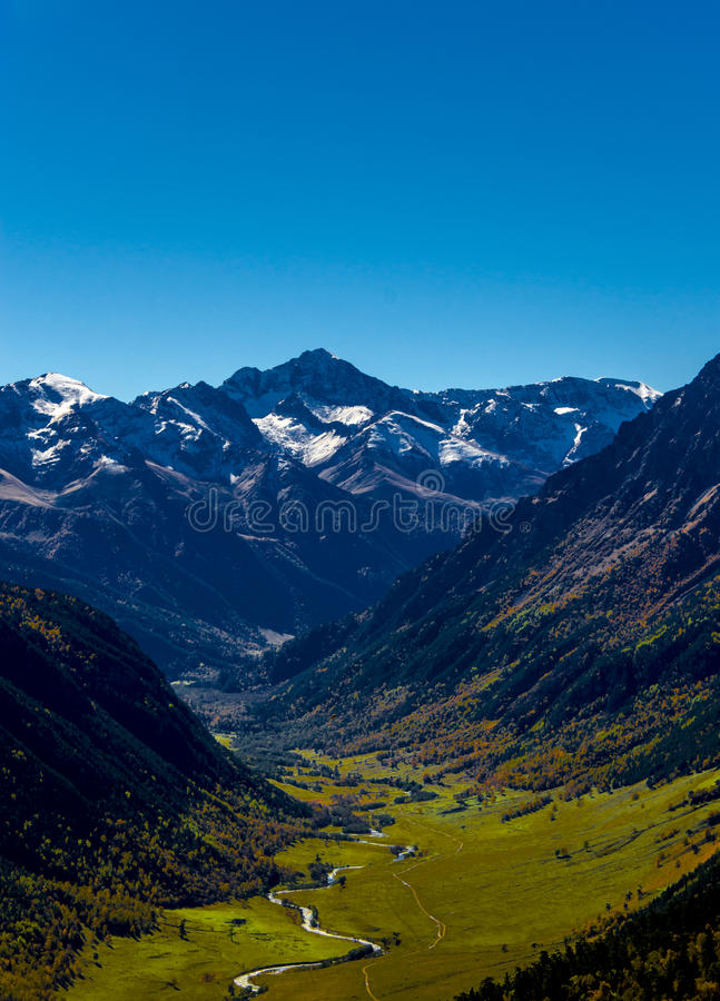 Mountain valley stock photo