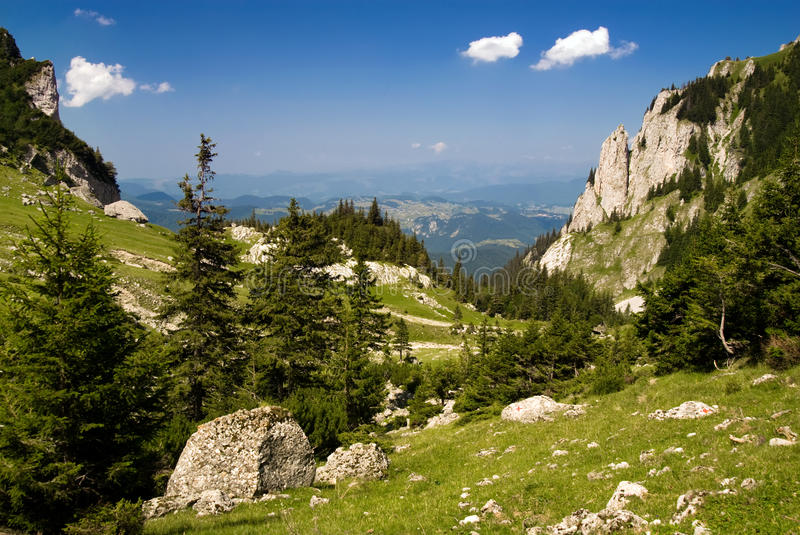 Download Mountain valley in Romania stock image. Image of dangerous - 10224333