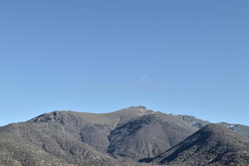 Mountain. Varnountas mountain in the region of Prespes, Greece stock image
