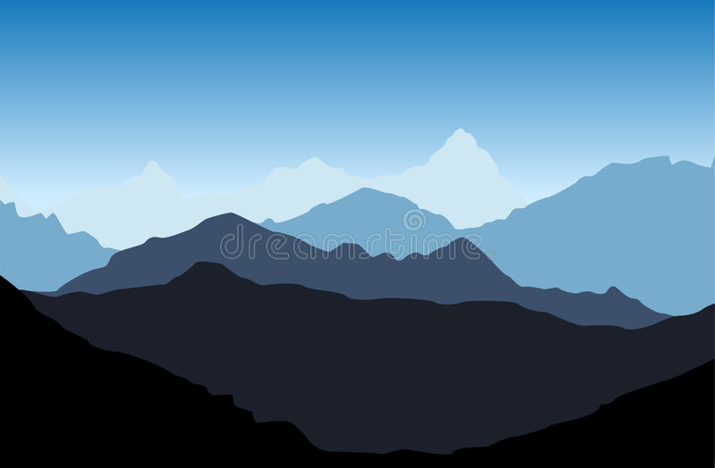 Mountain vector royalty free stock image