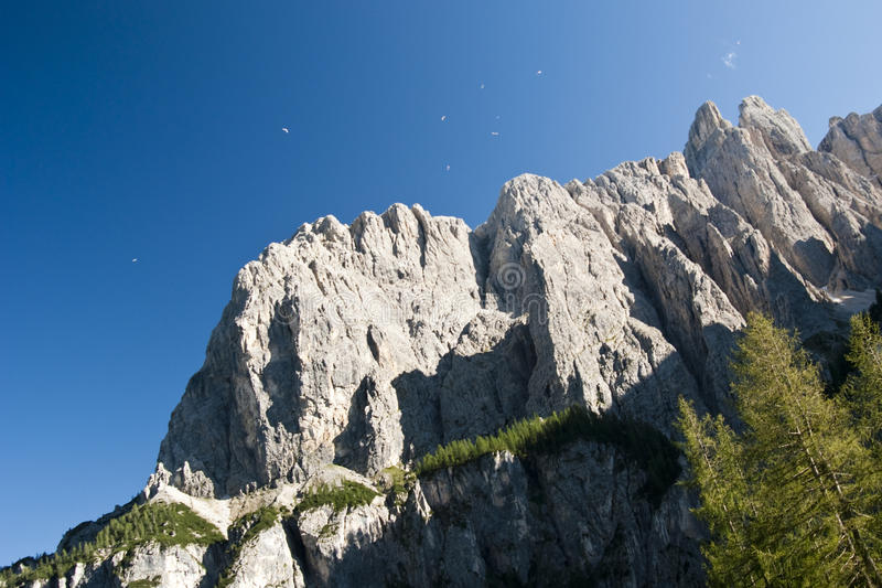 Mountain View. Summer mountain view from Colfosco in a sunny day - Italy 2009 - Dolomiti stock photo