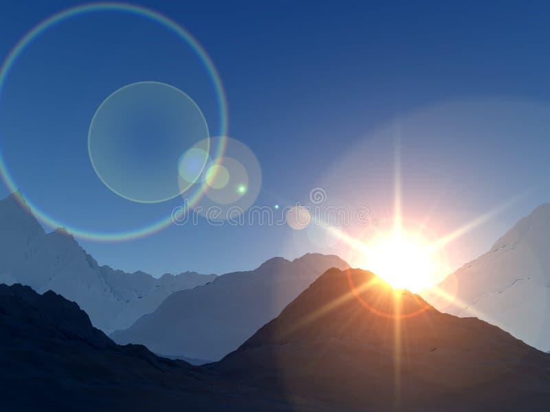 Download Mountain View 2 stock illustration. Illustration of sunlight - 4580647