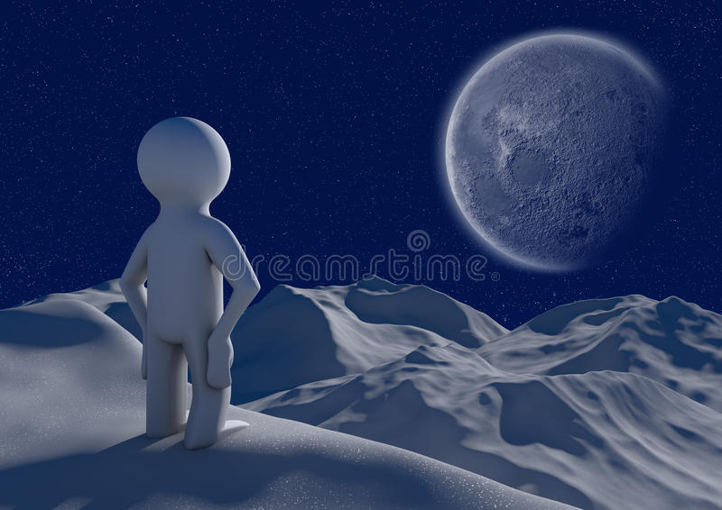 Download A mountain view stock illustration. Image of starry, nature - 21427505
