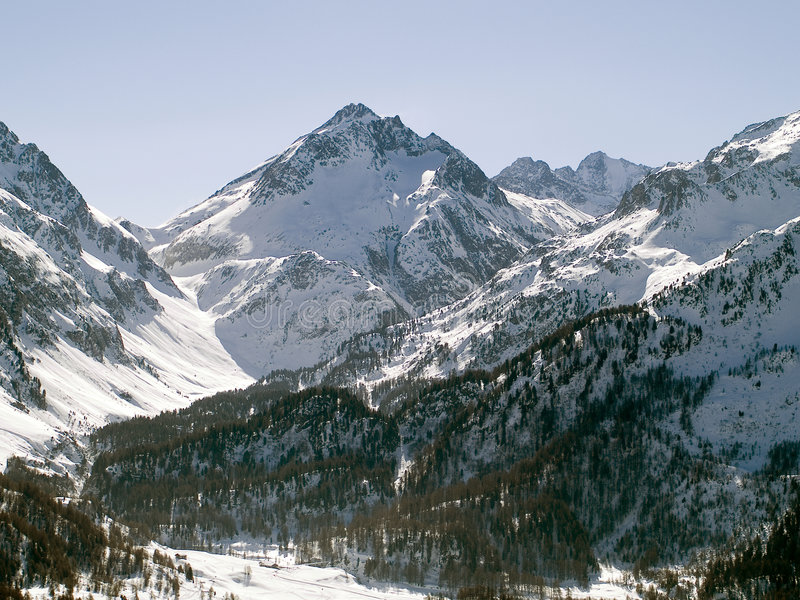 MOUNTAIN VIEW. With swisse alps royalty free stock photo