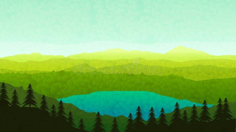 Mountain View 08 illustration libre de droits