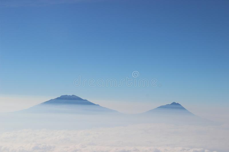mountain view from above the clouds royalty free stock photography