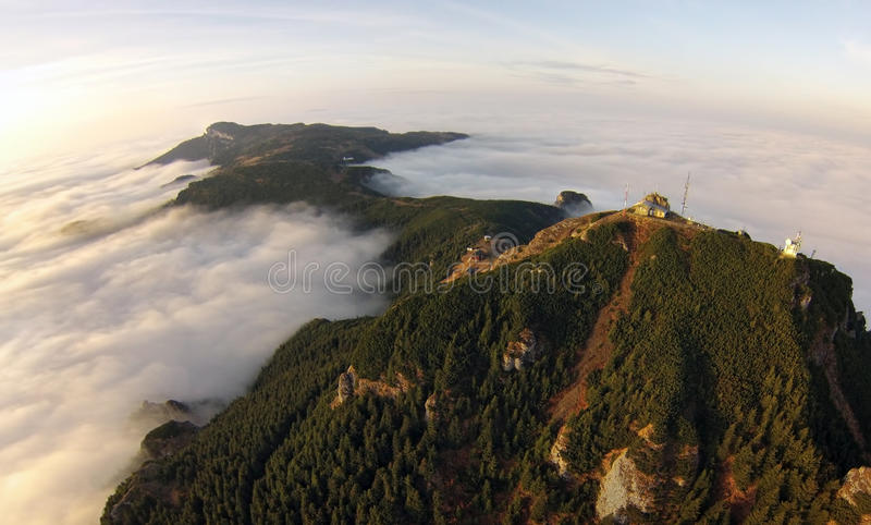 Mountain view from the air royalty free stock image