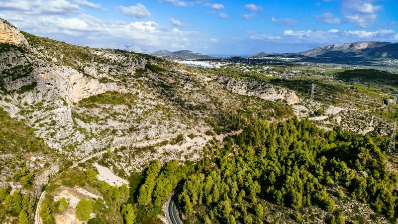 Mountain view from air royalty free stock photo
