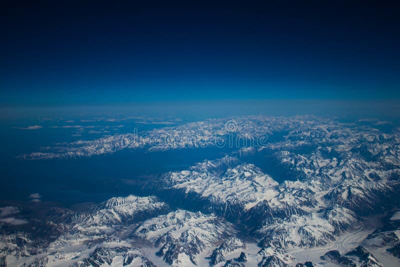 Alaskan mountains. Mountain view of Alaska from an aircraft stock images