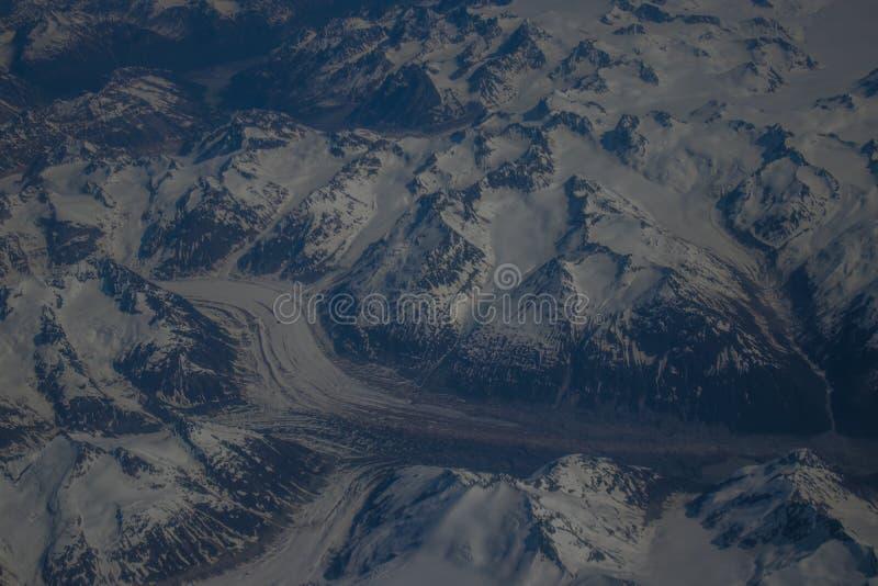 Alaskan mountains. Mountain view of Alaska from an aircraft stock photography
