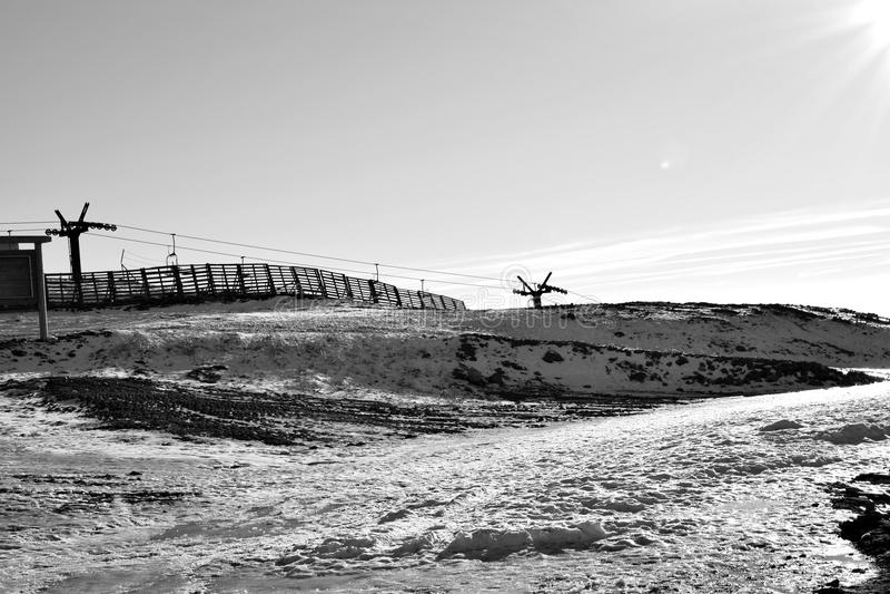 Mountain View blanco y negro fotos de archivo