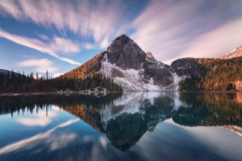 Mountain View bonitos do outono ao lago egypt no parque nacional de Banff em Rocky Mountains de Alberta Canada NASCER DE O SOL imagem de stock royalty free