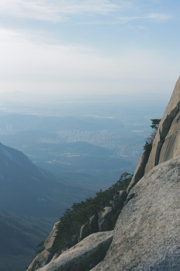 Mountain View (Bukhansan) royalty-vrije stock foto