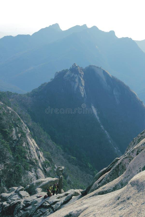 Mountain View (Bukhansan) royalty-vrije stock fotografie