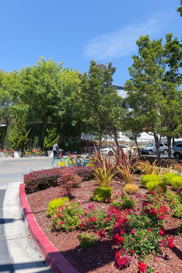 MOUNTAIN VIEW, CA, los E.E.U.U. - 14 de agosto de 2014: Vista exterior de Google foto de archivo