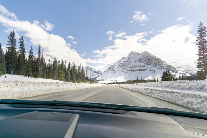 Mountain View from Car royalty free stock photos