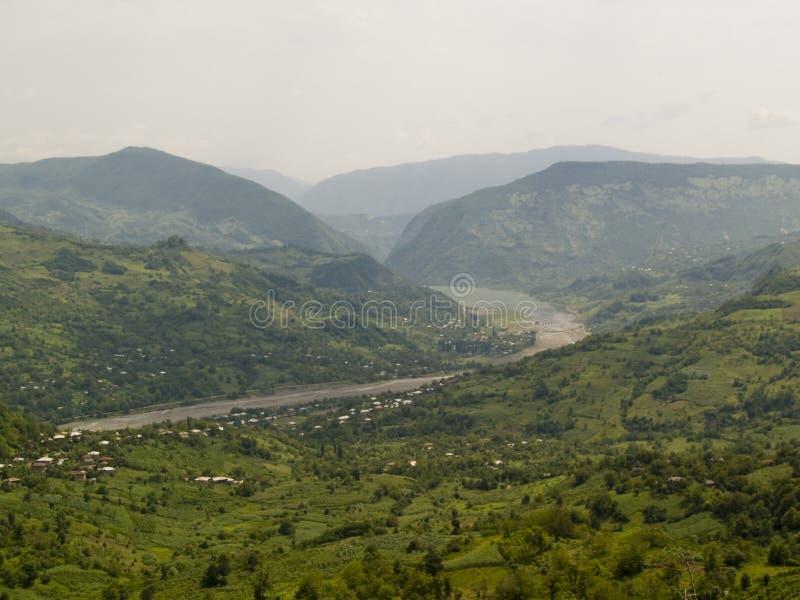 Mountain view - Caucas Georgia royalty free stock photography