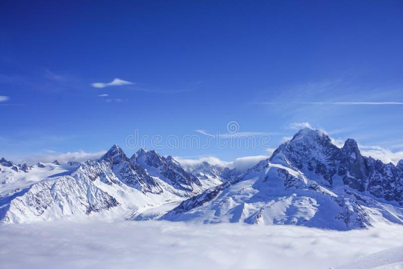 Mountain View a Chamonix-Mont-Blanc immagine stock libera da diritti
