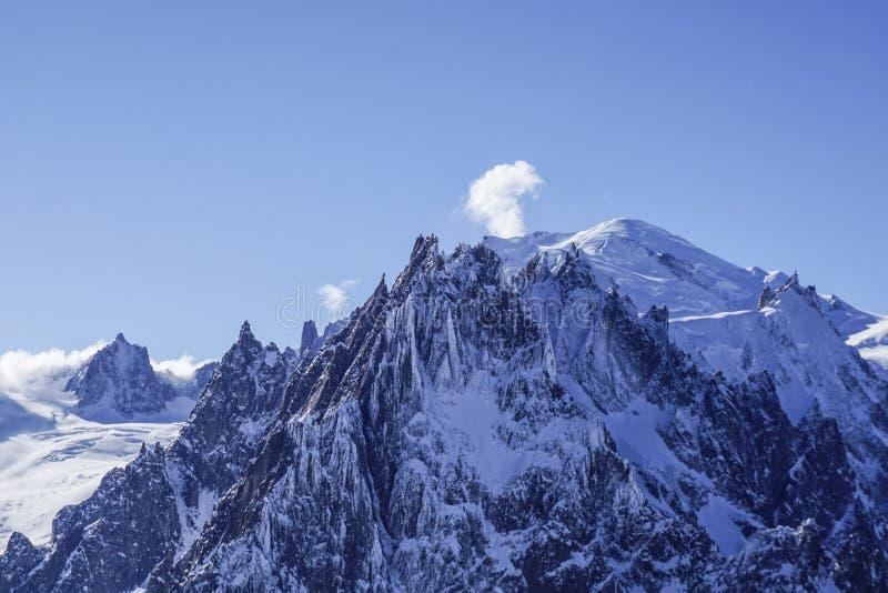 Mountain View a Chamonix-Mont-Blanc immagine stock