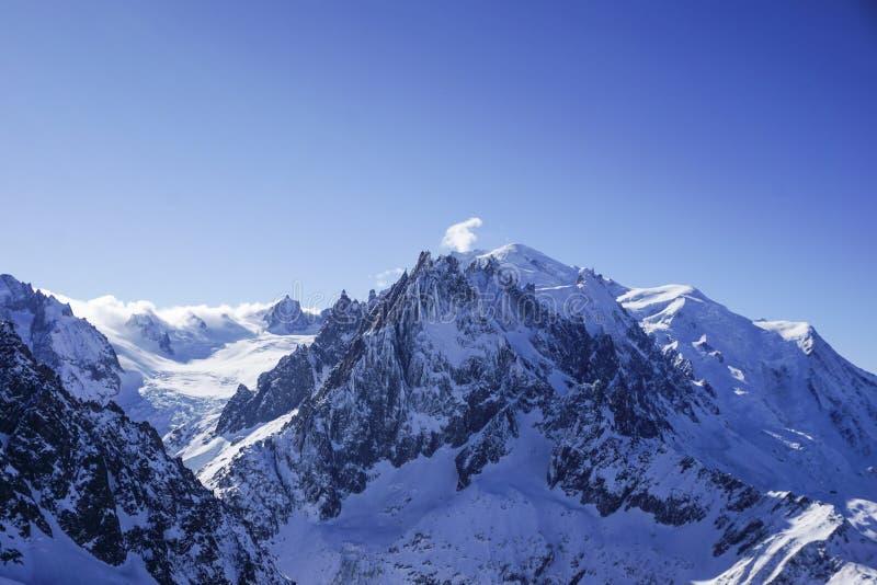 Mountain View a Chamonix-Mont-Blanc fotografia stock libera da diritti
