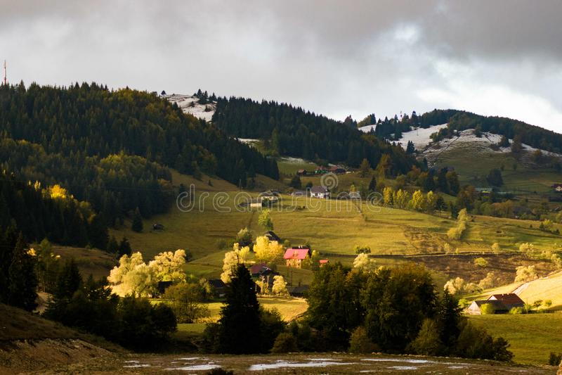 Mountain View Cheile Gradistei стоковое фото
