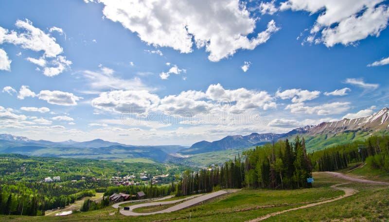 Mountain View, Colorado, o vizinho do Telluride no San Juan Mountains fotos de stock