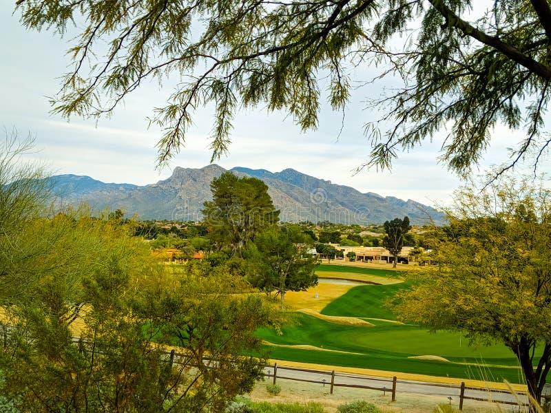 Mountain View in Countryside, Tucson, Arizona stock photography