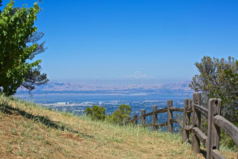 Mountain View Cupertino da adega de Ridge Califórnia imagens de stock royalty free