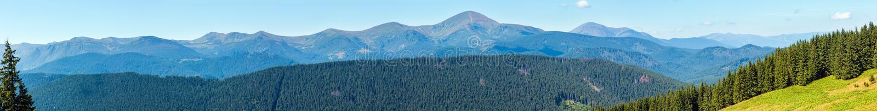 Mountain View d'été carpathien, Ukraine images stock