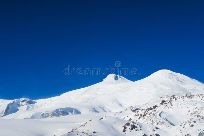 Mountain View d'Elbrus, un paysage de montagne dans la région de Caucase image stock
