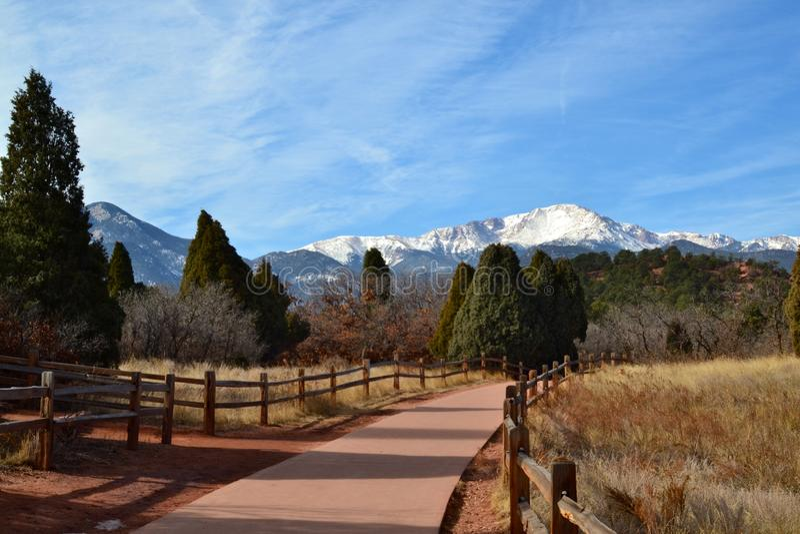 Mountain View d'hiver photo stock