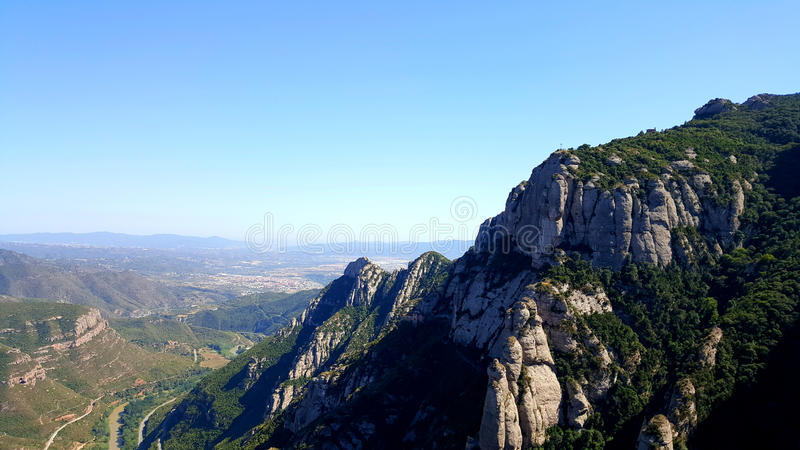 Mountain View da Montserrat, Spagna immagini stock