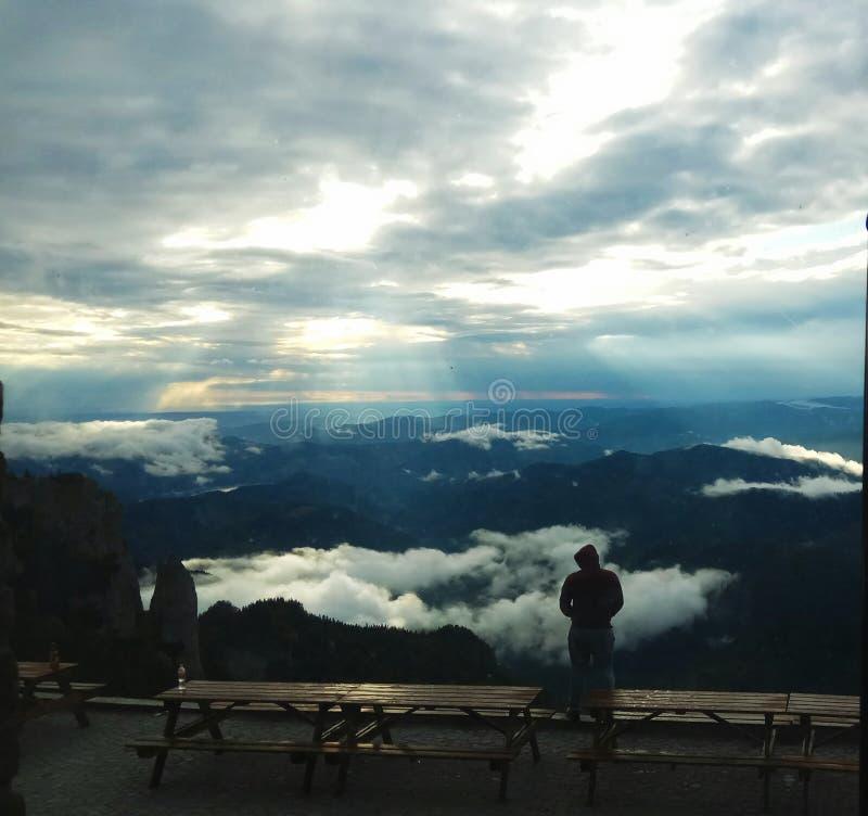 Mountain View da sopra fotografia stock libera da diritti