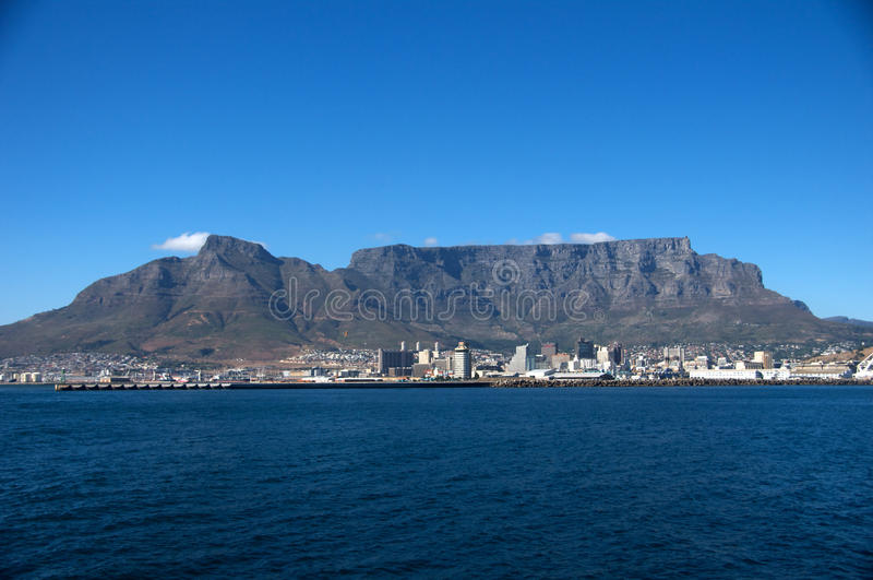 Mountain View da tabela, CapeTown África do Sul fotografia de stock royalty free