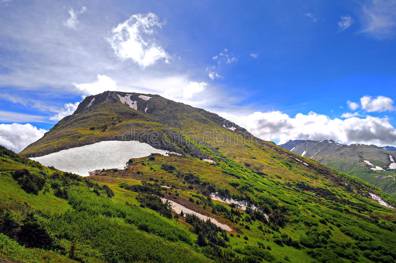 Mountain View de Alaska imagenes de archivo