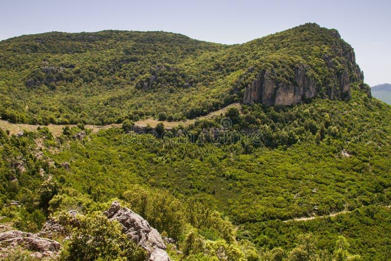 Mountain View de Cerdeña fotografía de archivo libre de regalías