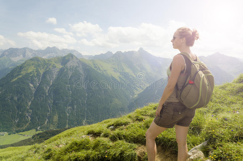 Mountain View de l'Autriche images libres de droits