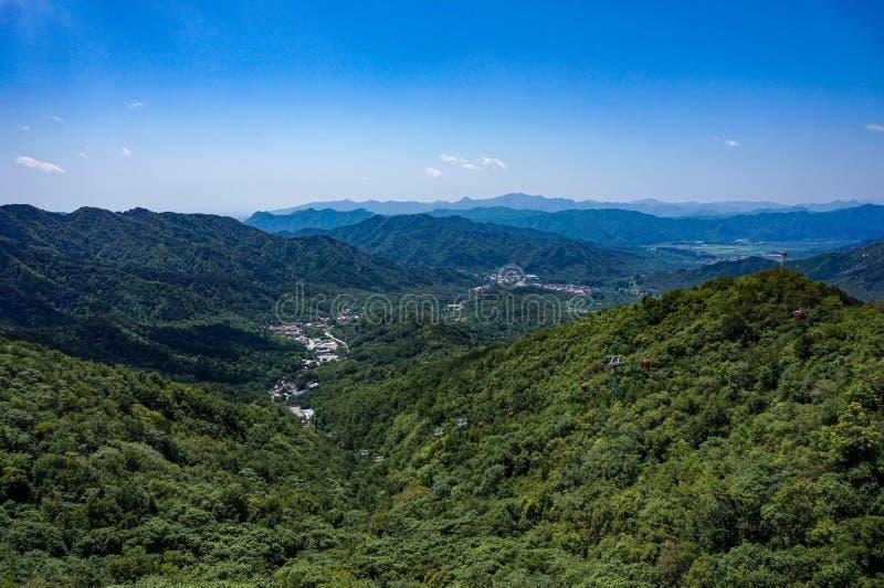 Mountain View de la Gran Muralla de China fotos de archivo