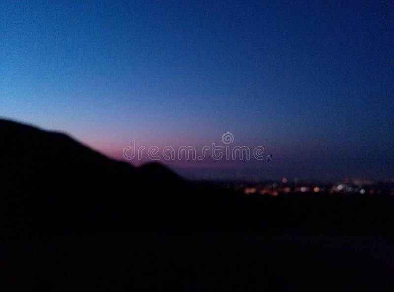 Mountain View de la salida del sol imagen de archivo