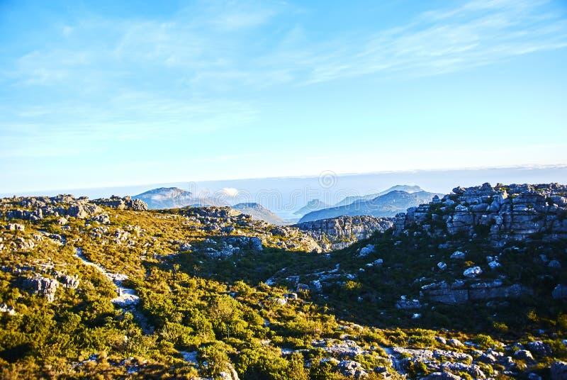 Mountain View de la tabla Cape Town Suráfrica fotografía de archivo libre de regalías