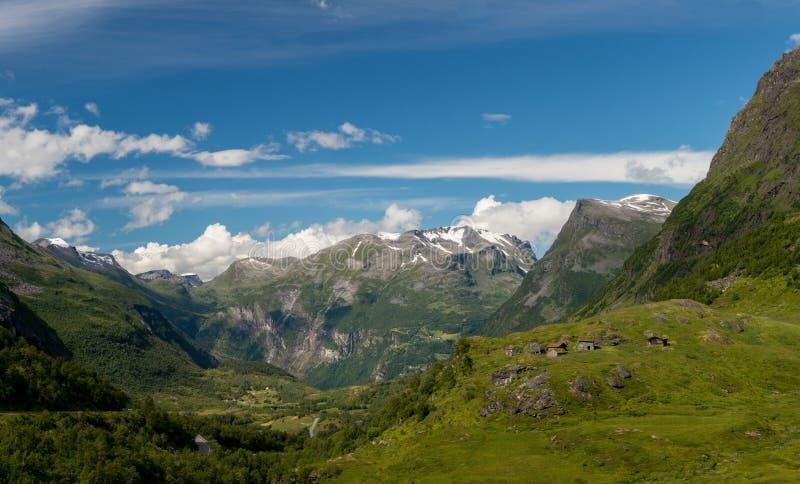 Mountain View de Noruega imagem de stock