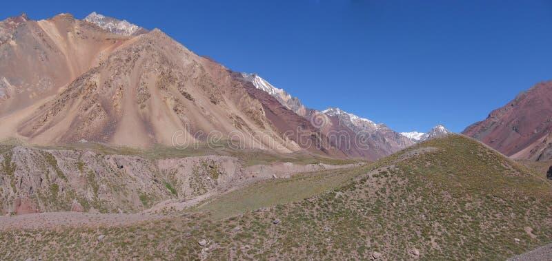 Mountain View de Panoramaic, l'Aconcagua NP, Argentine photo libre de droits
