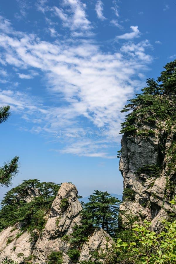 Mountain View de Tian TangZhai Scenic Spot photographie stock