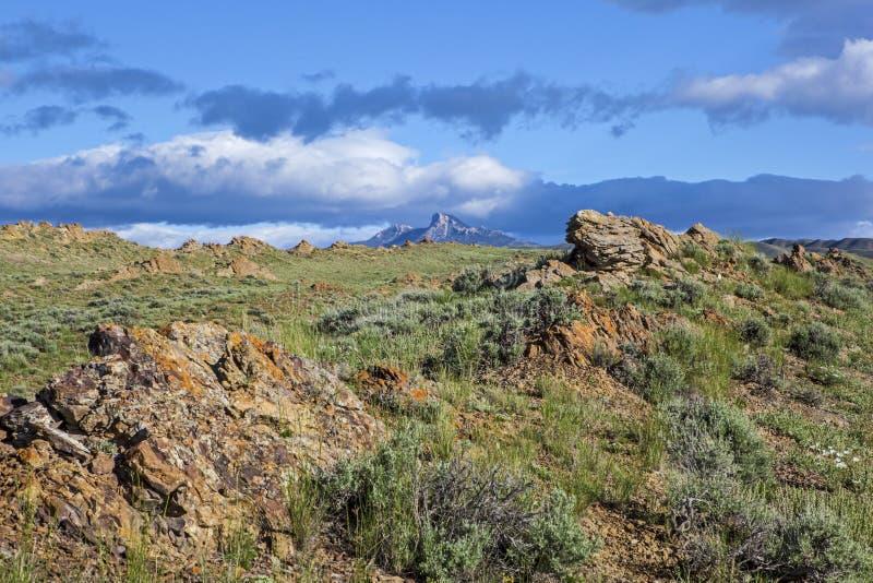 Mountain View del cuore fotografie stock libere da diritti